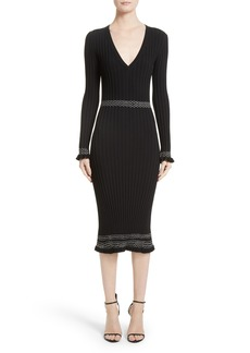 Altuzarra Ruffle Hem Knit Dress