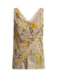 Altuzarra Selva floral-print silk-crepe top