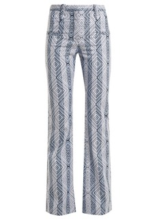 Altuzarra Serge diamond-jacquard cotton-blend trousers