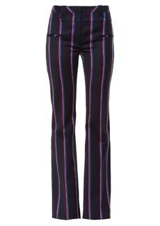 Altuzarra Serge striped wool-blend flared trousers
