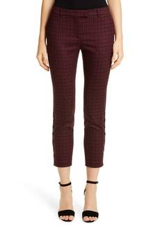 Altuzarra Side Button Skinny Tartan Pants