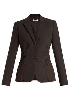 Altuzarra Simeon single-breasted ruched-panel cady jacket