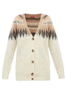 Altuzarra Sita Fair-Isle wool-blend cable-knit cardigan