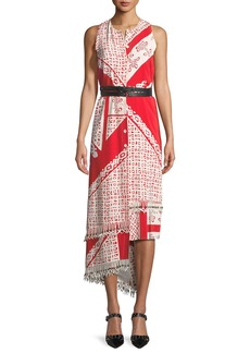 Altuzarra Sleeveless Bandana-Print Midi Dress