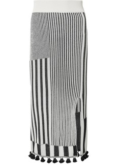 Altuzarra Spire Tasseled Ribbed Stretch-knit Skirt