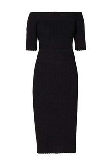 Altuzarra Stansfield off-the-shoulder knitted midi dress