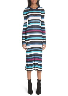 Altuzarra Stills Stripe Rib Knit Dress