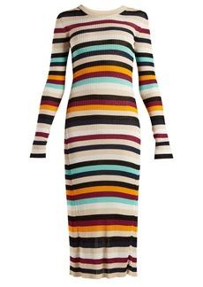 Altuzarra Stills striped knitted dress
