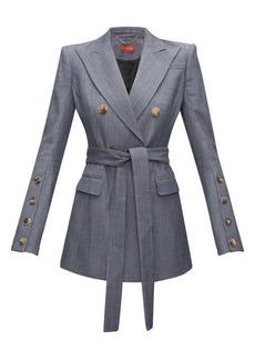 Altuzarra Striped double-breasted wool-blend jacket
