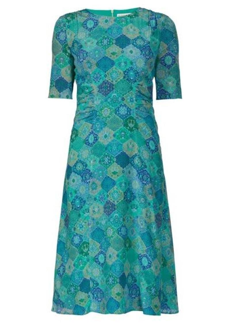 Altuzarra Sylvia tile-print silk-crepe dress