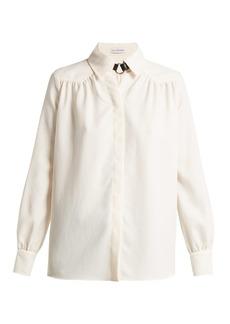 Altuzarra Tamar buckle-neck crepe blouse