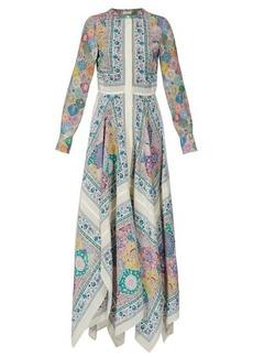 Altuzarra Tamourine asymmetric printed gown