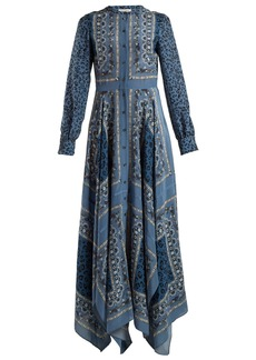 Altuzarra Tamourine scarf-print dress