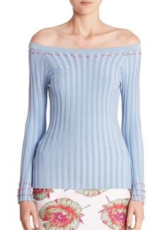 Altuzarra Tatum Off-The-Shoulder Rib-Knit Top