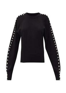 Altuzarra Thallo buttoned-sleeve round-neck sweater
