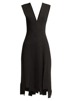 Altuzarra Tiziana stretch-crepe asymmetric midi dress