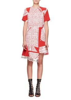 Altuzarra Tournelle Short-Sleeve Bandana-Print Silk Dress
