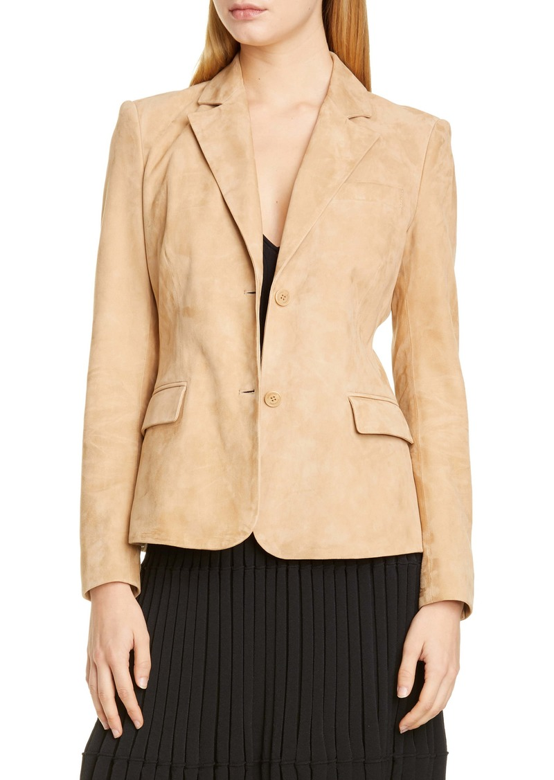 Altuzarra Two-Button Suede Jacket