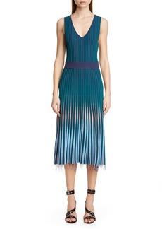 Altuzarra V-Neck Rib Sweater Dress