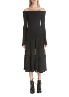 Altuzarra Vendaval Knit Off the Shoulder Dress