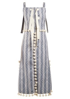 Altuzarra Villette tassel-trimmed diamond-jacquard dress