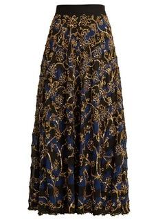 Altuzarra Villotta sequin-embellished silk skirt