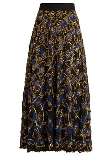 Altuzarra Villotta sequin-embellished silk skirt