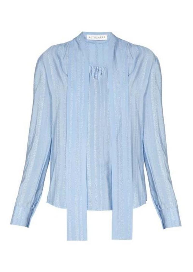 Altuzarra Visage neck-tie silk-blend crepe blouse