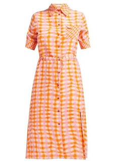 Altuzarra Vittoria gingham silk shirtdress