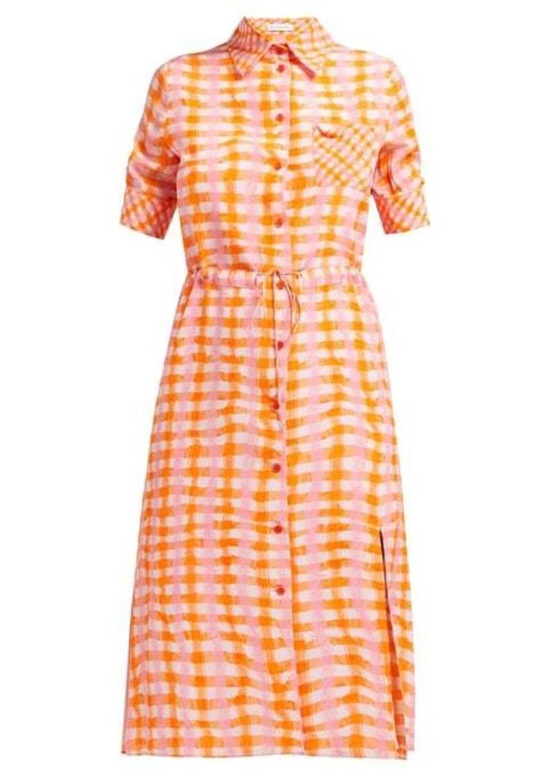 Altuzarra Vittoria gingham silk shirtdress