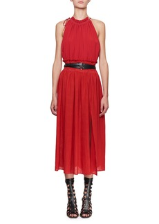 Altuzarra Vivienne Sleeveless Halter Crepe De Chine Dress