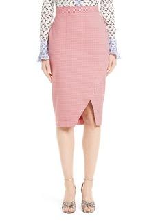 Altuzarra Wilcox Gingham Stretch Cotton Skirt
