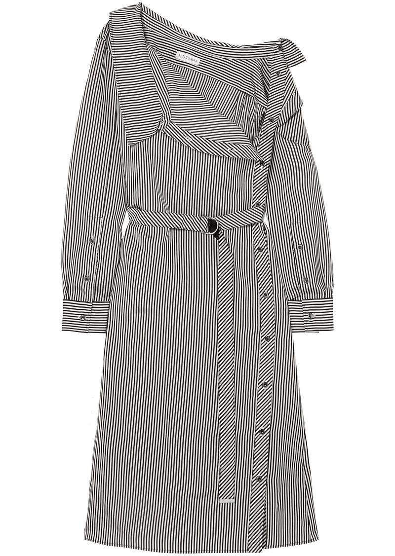 Altuzarra Woman Albany Oversized Striped Twill Midi Dress Black