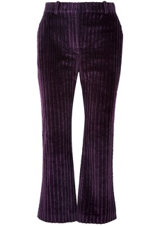 Altuzarra Woman Adler Cropped Cotton-corduroy Flared Pants Purple