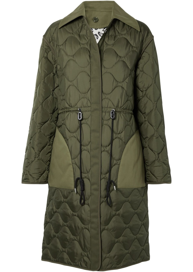 Altuzarra Woman Creedence Reversible Cotton Twill-trimmed Quilted Shell Coat Army Green