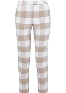 Altuzarra Woman Cropped Gingham Wool-blend Twill Slim-leg Pants Ivory