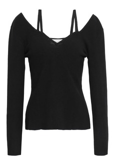 Altuzarra Woman Cutout Stretch-knit Top Black