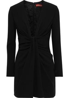 Altuzarra Woman Enola Draped Jersey Mini Dress Black