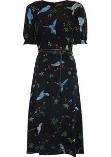Altuzarra Woman Gorman Printed Silk-chiffon Midi Dress Black