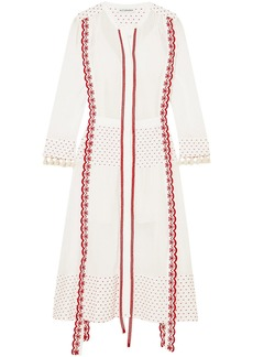 Altuzarra Woman Grenelle Broderie Anglaise-trimmed Swiss-dot Cotton And Chiffon Midi Dress White