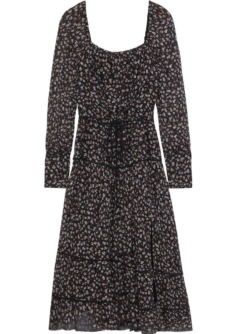 Altuzarra Woman Lahiri Floral-print Silk-blend Georgette Dress Black