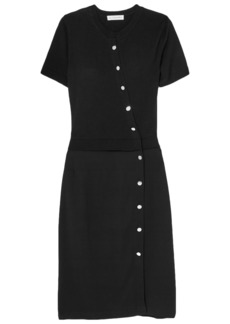 Altuzarra Woman Jefferson Merino Wool And Stretch-crepe Dress Black