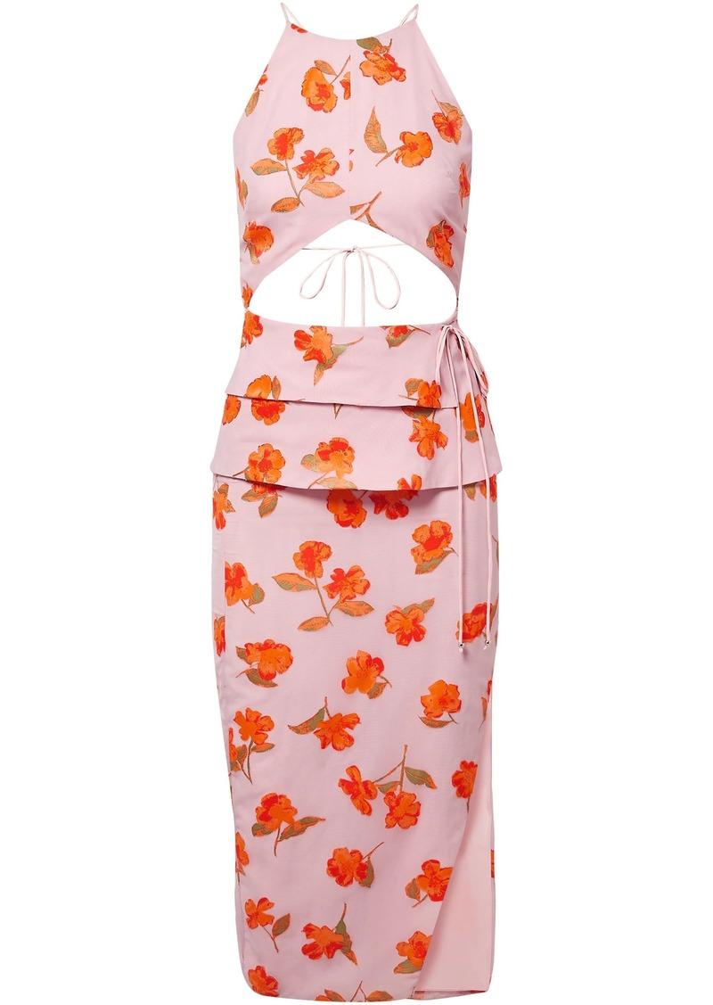Altuzarra Woman Julietta Cutout Fil Coupé Chiffon Midi Dress Baby Pink