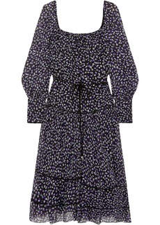 Altuzarra Woman Lahiri Floral-print Silk-blend Georgette Dress Purple