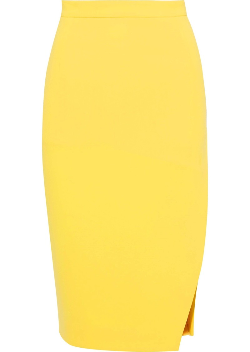 Altuzarra Woman Lancaster Cady Pencil Skirt Yellow