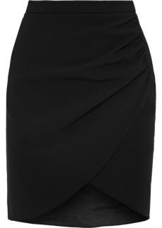Altuzarra Woman Malcolm Wrap-effect Cady Mini Skirt Black