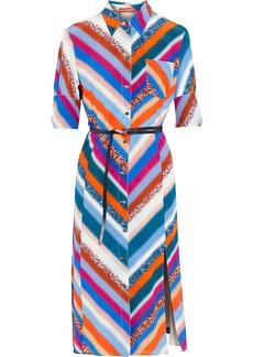 Altuzarra Woman Narcissa Belted Printed Silk Crepe De Chine Shirt Dress Multicolor