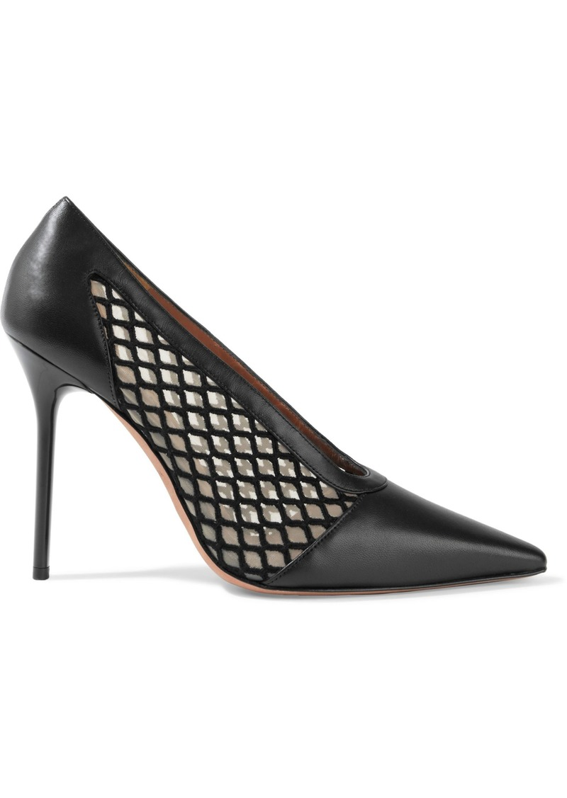 Altuzarra Woman Peppino Mesh And Leather Pumps Black