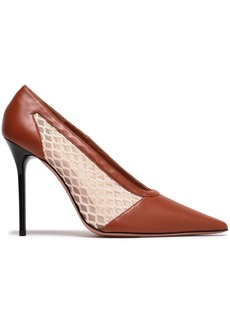 Altuzarra Woman Peppino Mesh And Leather Pumps Light Brown