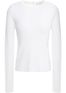 Altuzarra Woman Ribbed Wool And Cashmere-blend Sweater White